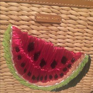67ca5adc74ed MICHAEL Michael Kors Bags - Michael Kors Malibu Extra Large Woven Clutch